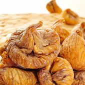 closeup of a pile of dried figs