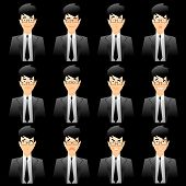 Business Man Facial Expressions