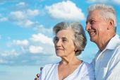 Beautiful caucasian aged couple