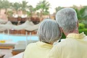 Senior couple having rest at the resort