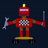 Red smiling robot