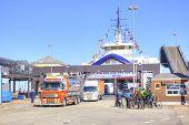 Denmark. Unloading The Ferry