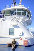 Girl Abovedeck Ferry