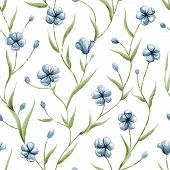 Illustration of seamless pattern with flowers