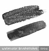 Gray Watercolor Brush Strokes