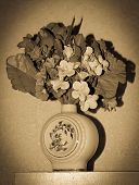 vintage yesteryear bowl of flowers