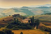 Tuscany, Italy - San Quirico d'Orcia (filtered)