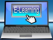 Laptop with E-Learning button