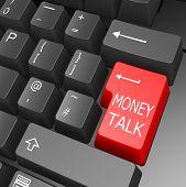 Money Talk Key On Computer Keyboard