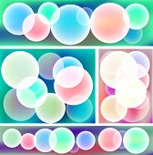 Colorful Abstract Bubble Banner Collection Set (vector)