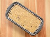 Raw Banana Loaf Batter In A Lined Tin