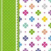 flowers and polka dot greeting card