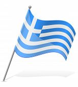 Flag Of Greece Vector Illustration