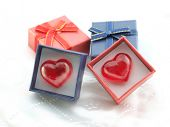 Heart in a red gift box