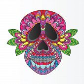picture of day dead skull  - Day of the Dead Sugar Skull  - JPG
