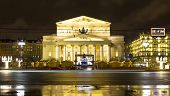Moscow, Big Theatre In Christmas