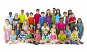 picture of pre-adolescent child  - Large Group of Children - JPG