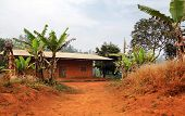 Typical African Red Clay House