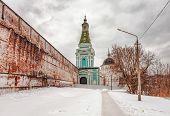 Old russian church in gloomy weather