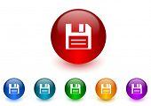 data internet icons colorful set