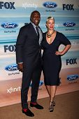 LOS ANGELES - SEP 8:  Terry Crews, Rebecca Crews at the 2014 FOX Fall Eco-Casino at The Bungalow on