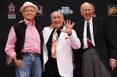 LOS ANGELES - SEP 8:  Norman Lear, Carl Reiner, Max Brooks at the Mel Brooks Hand and Foot Print Ceremony at TCL Chinese Theater on September 8, 2014 in Los Angeles, CA