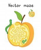 picture of worm  - Vector Maze - JPG