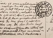 Old Letter With Vintage Handwriting In English Language