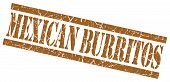 Mexican Burritos Brown Square Grungy Isolated Rubber Stamp