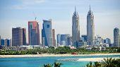 DUBAI, UAE - 2 February 2014: The Al Kazim Towers in Dubai Media.