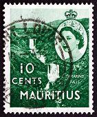 Postage Stamp Mauritius 1953 Tamarind Falls