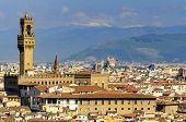 Florence  panorama of Florence  view of Florence  Florence in spring  Florence Cathedral  Palazzo Me