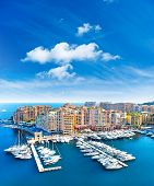 Panoramic View Of Marina In Monaco