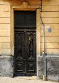 Old Black Iron Door