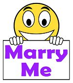Marry Me On Sign Means Wedding Proposal