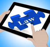 Law Tablet Means Justice And Legal Information Online