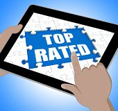 Top Rated Tablet Means Web Number 1 Or Most Popular
