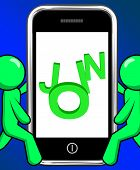 Join On Phone Displays Subscribing Membership Or Registration