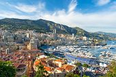 View Of Monaco Harbor Prepared For Formula 1 Grand Prix De Monaco