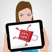 Handstand Shopping Bag Displays Sale Discount Twenty Five Percent Off 25