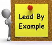 Lead By Example Note Means Mentor Or Inspire