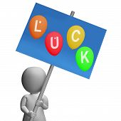 Luck Sign Represent Best Wishes And Blessings