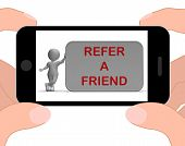 Refer A Friend Phone Shows Suggesting Website