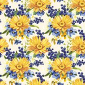 Elegance Seamless flower gerbera pattern