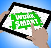 Work Smart Tablet Means Employee Productivity And Efficiency