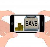 Save Jar Displays Save Or Set Aside Money And Finances