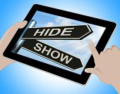 Hide Show Tablet Means Obscured And Visible