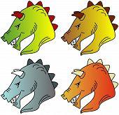 pic of dragon head  - Illustration of a dragon - JPG