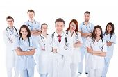 Large Diverse Group Of Medical Staff In Uniform
