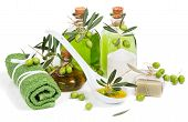 Spa Composition With Green Olive  Products